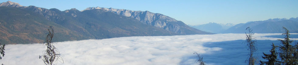 Slocan Lake of cloud - photo by James Andersen