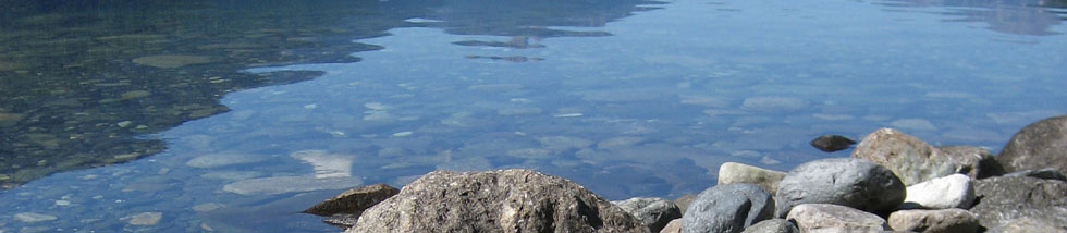 Slocan Lake rocky shore - photo by Tom Perry
