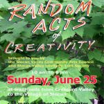 Random Acts of Creativity on the Slocan Valley Rail Trail @ Slocan Valley Rail Trail