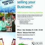 Succession Planning Workshop @ Slocan Park Hall